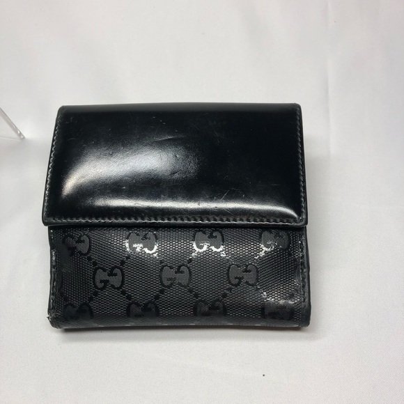 Gucci Handbags - Gucci Imprime PVC and Leather Bifold Wallet